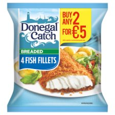 Donegal Catch 4 Breaded Fish Fillets 380G