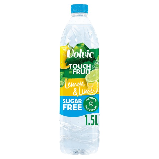 Volvic Touch of Fruit Sugar Free Lemon & Lime Flavoured Water 1.5L