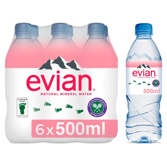evian Natural Mineral Water 6 x 50cl