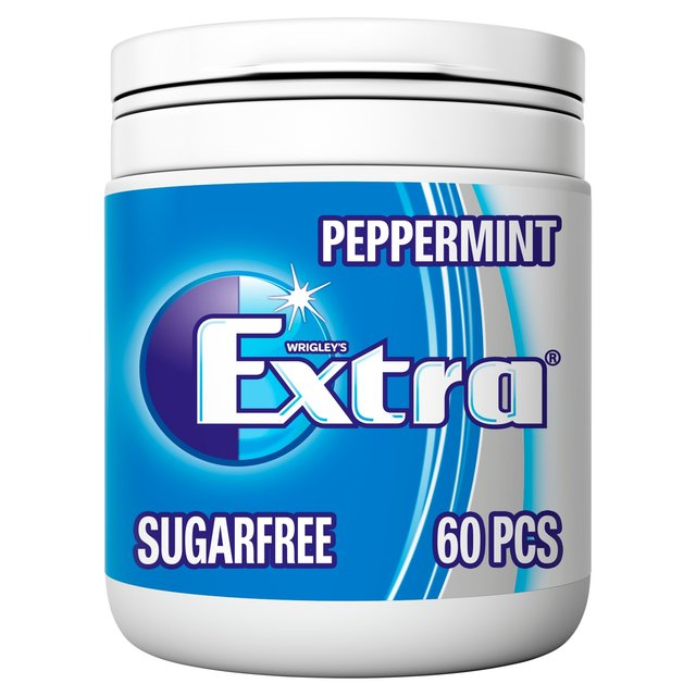 Extra Peppermint Chewing Gum Sugar Free Bottle 60 Pieces