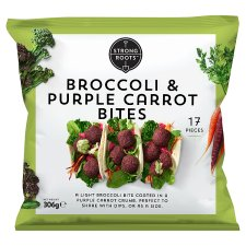Strong Roots Broccoli And Purple Carrot Bites 306G