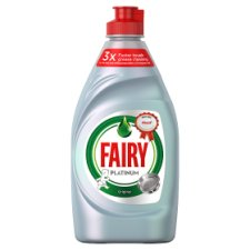 Fairy Platinum Quickwash Original Washing Up Liquid With Up To 3X Faster Tough Grease Cleaning 383ml