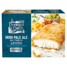 Donegal Catch 2 Irish Pale Ale Battered Atlantic Cod Fillets 250g