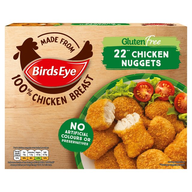 Birds Eye 22 Gluten Free Chicken Nuggets 455g