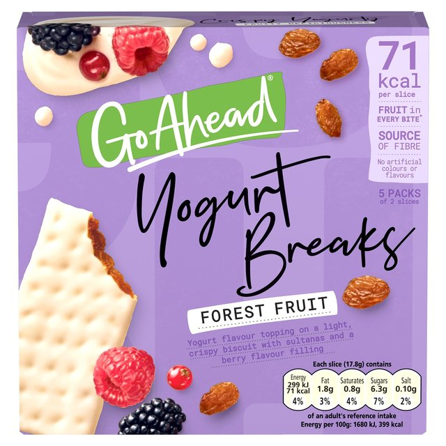 Go Ahead! Yogurt Breaks Forest Fruit Biscuits Bars 5 Pack (178g)