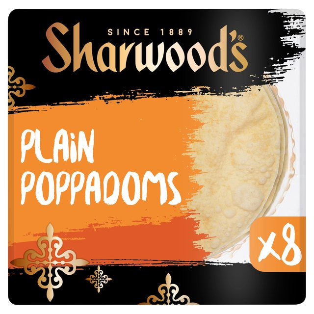 Sharwood's Plain Poppadoms x8