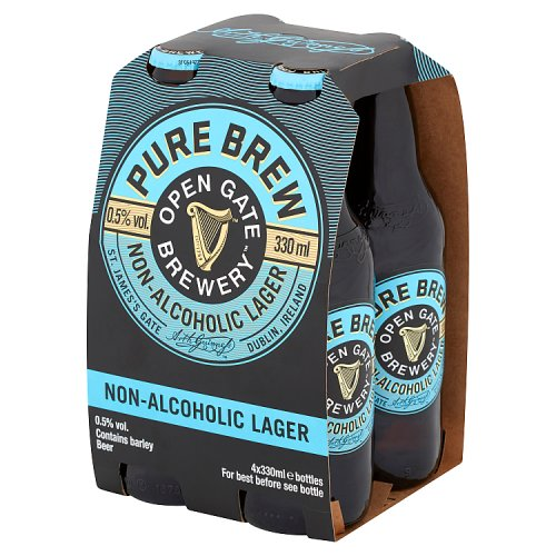 Open Gate Brewery Pure Brew Non-Alcoholic Lager 4 x 330ml