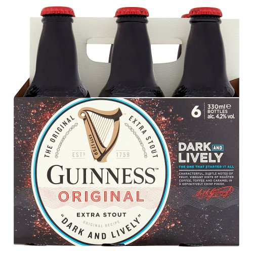 Guinness Original Extra Stout 6 Bottles x 330ml