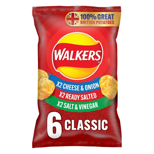 Walkers Classic Variety Crisps 6x25g