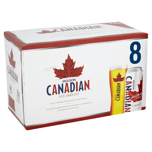 Molson Canadian Lager 8 x 500ml