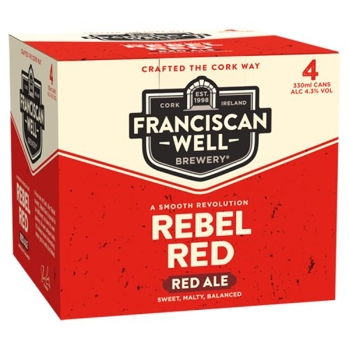 Franciscan Well Rebel Red Ale 4 x 330ml