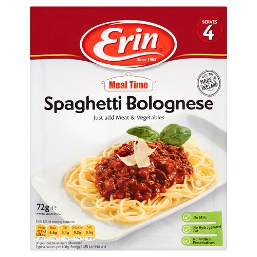 Erin Meal Time Spaghetti Bolognese 72g