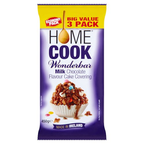 Homecook Wonderbar Milk Chocolate Flavour Cake Covering 450g Big Value 3 Pack