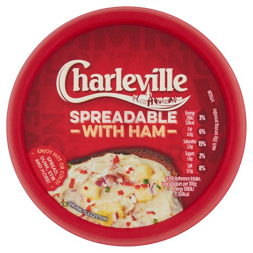 Charleville Spreadable with Ham 125g