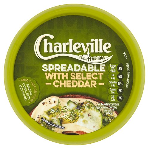 Charleville Spreadable with Select Cheddar 125g