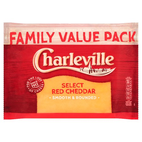 Charleville Select Red Cheddar Family Value Pack 340g