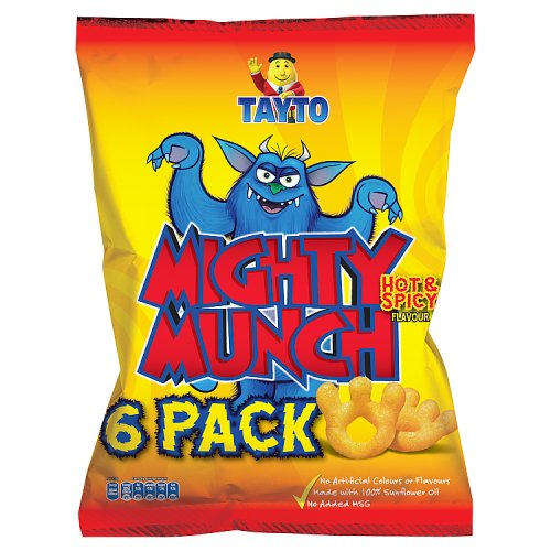 Tayto Mighty Munch Hot & Spicy Flavour 6 x 26g