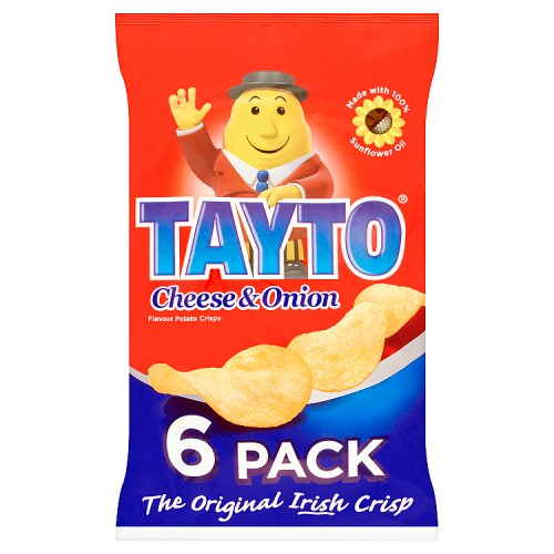 Tayto Cheese & Onion Flavour Potato Crisps 6 x 25g