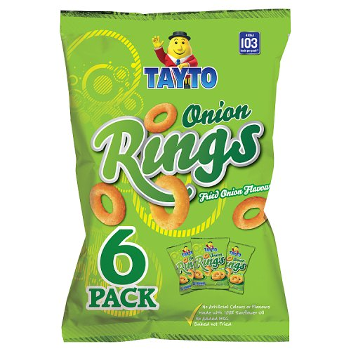 Tayto Onion Rings Fried Onion Flavour 6 x 20g