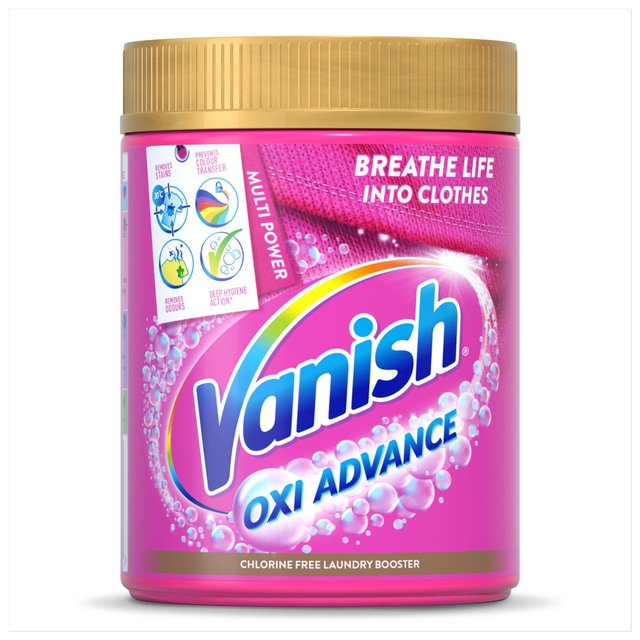 Vanish Gold Oxi Action Colour Safe Powder Fabric Stain Remover 470g