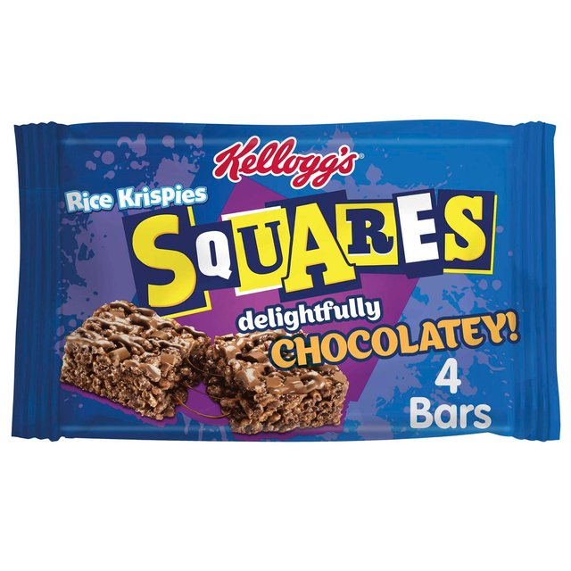 Kellogg's Rice Krispies Squares Totally Chocolatey Snack Bar, 36g (Pack of 4)