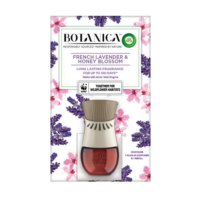 BOTANICA by AIR WICK Electrical Plug-In Diffuser & French Lavender and Honey Blossom Refill 19ml