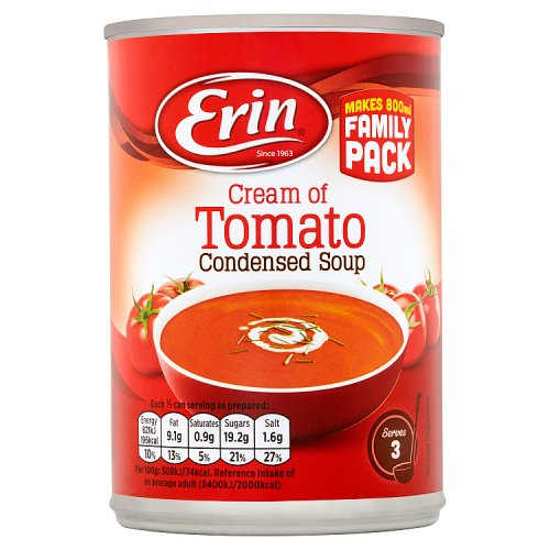 Erin Cream of Tomato Condensed Soup 400g