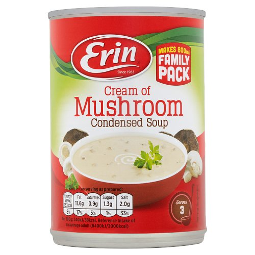 Erin Cream of Mushroom Condensed Soup 400g