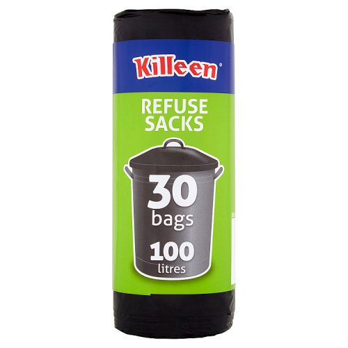 Killeen 30 Refuse Sacks 100 Litres