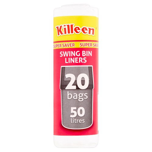 Killeen Super Saver Swing Bin Liners 20 Bags 50 Litres