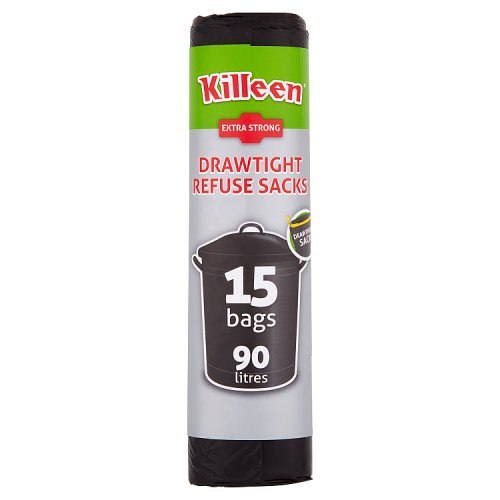 Killeen 15 Drawtight Refuse Sacks 90 Litres