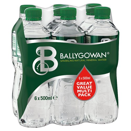 Ballygowan Sparkling Natural Mineral Water 6 x 500ml