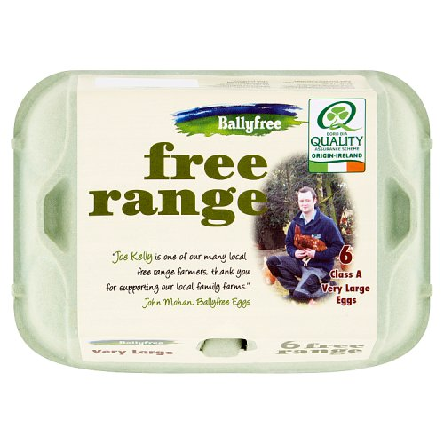 Ballyfree Free Range Eggs Very Large 6 Pack