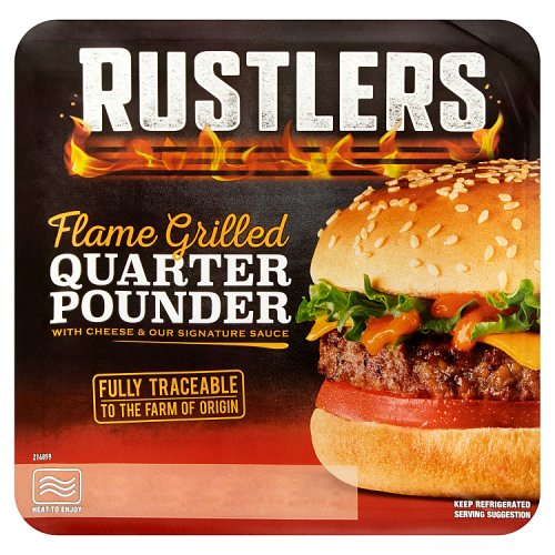 Rustlers Flame Grilled Quarter Pounder with Cheese & Our Signature Sauce 190g