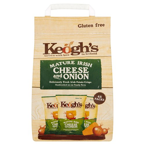Keogh's Mature Irish Cheese & Onion 6 Hand Cooked Potato Crisps