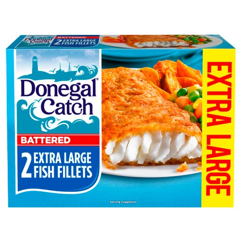Donegal Catch 2 Battered Extra Large Fish Fillets 300g