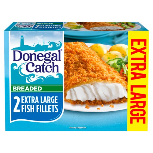 Donegal Catch 2 Breaded Extra Large Fish Fillets 300g