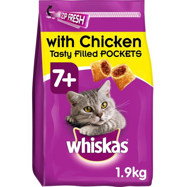 Whiskas Senior 7+ Complete Dry Cat Food with Chicken 1.9kg