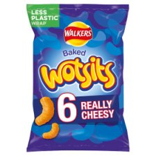 Walkers Wotsits Cheese Snacks 6 X 16.5 G