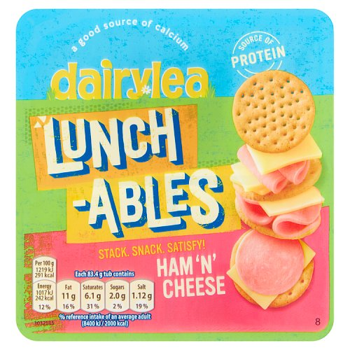 Dairylea Lunchables Ham 'n' Cheese Stackers 83.4g