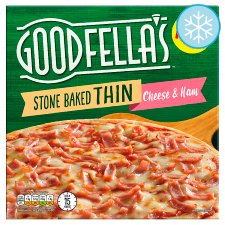 Good Fellas Stone Baked Thin Cheese And Ham Pizza 351G