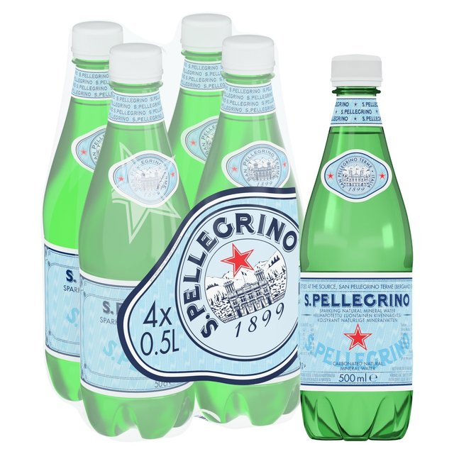 San Pellegrino Sparkling Natural Mineral Water 4x500ml