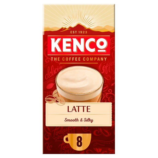 Kenco Latte Instant Coffee Sachets x8