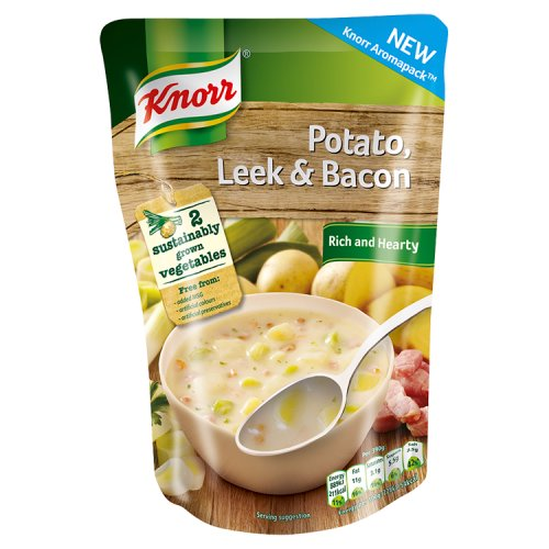 Knorr Rich & Hearty Potato, Leek & Bacon 390g