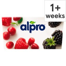 Alpro Raspberry Cranberry Yoghurt Alternative 4 X125g