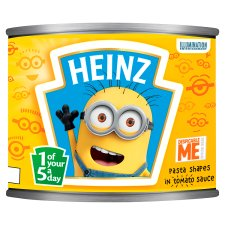 Heinz Despicable Me Minions Shapes in Tomato Sauce 205g