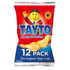 Tayto Cheese & Onion Flavour Potato Crisps 12 x 25g
