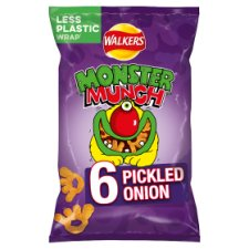 Walkers Monster Munch Pickled Onion Snacks 6x22g
