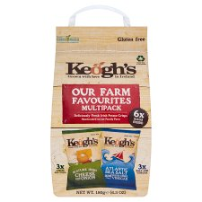 Keogh's 6 Pack Cheese And Onion And Salt And Vinegar Crsps 180G