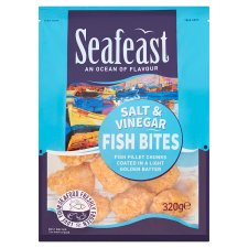 Seafeast Salt And Vinegar Crispy Fish Bites 320G